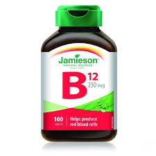 Jamieson B 12 vitamin tabletta 250 µg 100 db