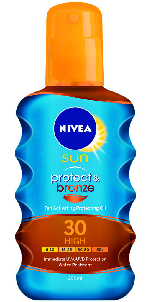 Nivea Protect&Bronze Napozó Spray SPF30(200ml)