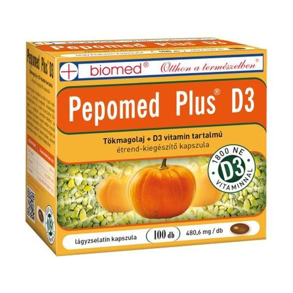 Biomed Pepomed Plus D3-vitamin Kapszula(100db)