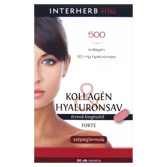Interherb Kollagén Hyaluronsav Forte 30db