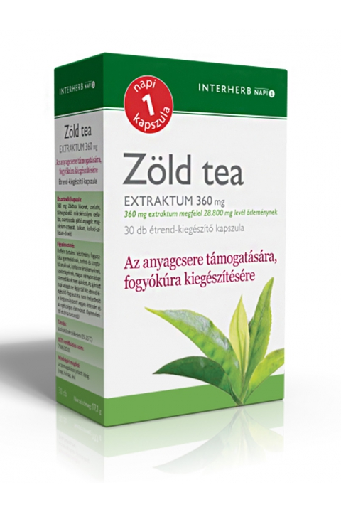Interherb Zöld Tea Kapszula(30db)