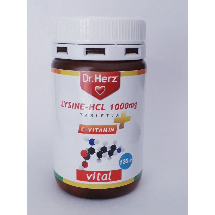 Dr. Herz lysine 1000mg + C-vitamin tabletta(120db)