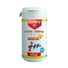 Dr.Herz Lysine 1000mg + C-vitamin tabletta 60db