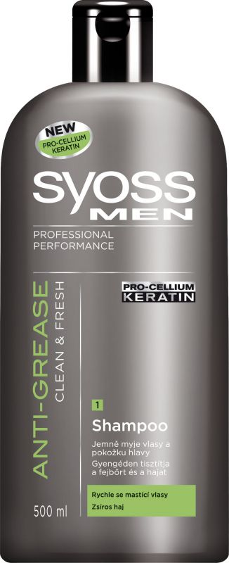 Syoss Men Sampon-Anti-Grease Zsíros hajra(500ml)
